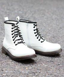 SFW/8ホール ブーツ クリアソール メンズ 靴 レースアップ サイドジップ/1702/503068307