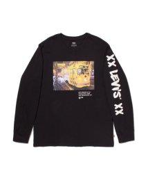 Levi's/ロングスリーブグラフィックTシャツ BI PHOTO MINERAL BLACK/503068705