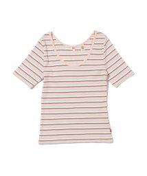 Levi's/VENICE Tシャツ ARIADNE STRIPE PEACH BLUSH/503068736