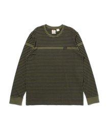 Levi's/AUTHENTIC ロングスリーブTシャツ OG INSET CREW OLIVE/503068739