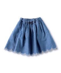 branshes/裾スカラップデニムスカート(S~XL)/503071085