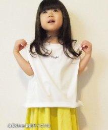 coen/【coen キッズ / ジュニア】チビロゴ刺繍フレンチスリーブTシャツ/503055319