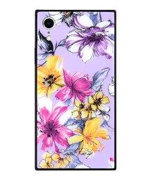 Mーfactory/iPhoneXR ROYALPARTY [アーバンフラワー/LAVENDER] 背面ガラスケース/503067314