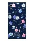 Mーfactory/iPhoneXR CECILMcBEE [小花柄/NAVY] 背面ガラスケース/503067316