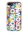 Mーfactory/iPhone8/7兼用/RODEOCROWNS [ロゴフラワー/EMERALD] カード収納型背面ケース/503067327