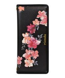 Mーfactory/Xperia1 rienda[パイピング/Emerges Flower/ブラック]手帳ケース /503067330