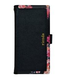 Mーfactory/多機種対応マルチ手帳ケース rienda[スクエア/Emerges Flower/ブラック]手帳ケース /503067334