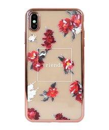 Mーfactory/iPhoneXSMax rienda [メッキクリアケース/レッドフラワー]/503067393