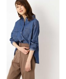 NATURAL BEAUTY BASIC/[洗える]フラップポケットシャツ/503074614