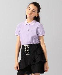 KUMIKYOKU KIDS/【150-170cm】スカラップカラー ポロシャツ/503077403