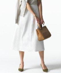 NIJYUSANKU/【マガジン掲載】リネンツイル ストレッチ フレアスカート(番号H24)/503077422