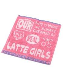 PINK-latte/ロゴ入りハンドタオル/503077994