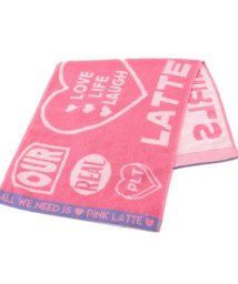PINK-latte/ロゴ入りフェイスタオル/503077995