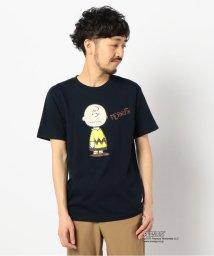GLOSTER/Charlie Brown/チャーリー・ブラウン カラーTシャツ 半袖 PEANUTS ピーナッツ/503063406