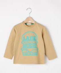 3can4on(Kids)/【90-150cm】バーガープリント長袖Tシャツ/503079194