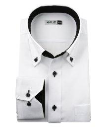 FLiC/ワイシャツ メンズ ボタンダウン 長袖 形態安定 シャツ ドレスシャツ ビジネス ノーマル スリム yシャツ カッターシャツ 定番 ドビー 織柄 おしゃれ シン/503079196