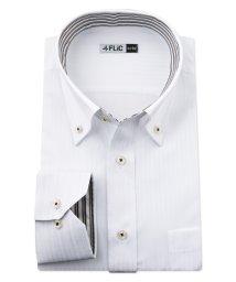 FLiC/ワイシャツ メンズ ボタンダウン 長袖 形態安定 シャツ ドレスシャツ ビジネス ノーマル スリム yシャツ カッターシャツ 定番 ドビー 織柄 おしゃれ シン/503079197