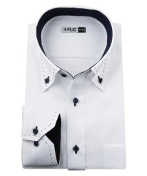 FLiC/ワイシャツ メンズ ボタンダウン 長袖 形態安定 シャツ ドレスシャツ ビジネス ノーマル スリム yシャツ カッターシャツ 定番 ドビー 織柄 おしゃれ シン/503079198