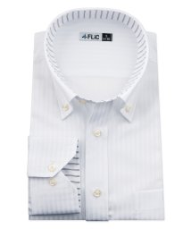 FLiC/ワイシャツ メンズ ボタンダウン 長袖 形態安定 シャツ ドレスシャツ ビジネス ノーマル スリム yシャツ カッターシャツ 定番 ドビー 織柄 おしゃれ シン/503079199