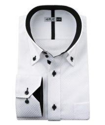 FLiC/ワイシャツ メンズ ドゥエボットーニ ボタンダウン 長袖 形態安定 シャツ ドレスシャツ ビジネス ノーマル スリム yシャツ カッターシャツ 定番 ドビー お/503079218