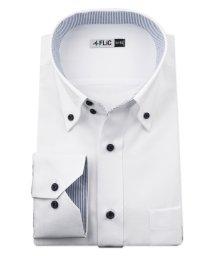 FLiC/ワイシャツ メンズ ドゥエボットーニ ボタンダウン 長袖 形態安定 シャツ ドレスシャツ ビジネス ノーマル スリム yシャツ カッターシャツ 定番 ドビー お/503079219
