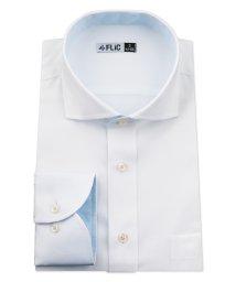 FLiC/ワイシャツ メンズ ホリゾンタル ワイド 長袖 形態安定 シャツ ドレスシャツ ビジネス ノーマル スリム yシャツ カッターシャツ 定番 ドビー 織柄 おしゃ/503079221