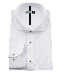 FLiC/ワイシャツ メンズ ホリゾンタル ワイド 長袖 形態安定 シャツ ドレスシャツ ビジネス ノーマル スリム yシャツ カッターシャツ 定番 ドビー 織柄 おしゃ/503079222