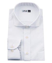 FLiC/ワイシャツ メンズ ホリゾンタル ワイド 長袖 形態安定 シャツ ドレスシャツ ビジネス ノーマル スリム yシャツ カッターシャツ 定番 ドビー 織柄 おしゃ/503079223