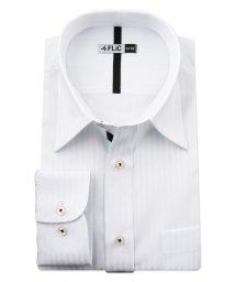 FLiC/ワイシャツ メンズ レギュラーカラー 長袖 形態安定 シャツ ドレスシャツ ビジネス ノーマル スリム yシャツ カッターシャツ 定番 ドビー 織柄 おしゃれ /503079224