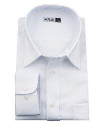 FLiC/ワイシャツ メンズ レギュラーカラー 長袖 形態安定 シャツ ドレスシャツ ビジネス ノーマル スリム yシャツ カッターシャツ 定番 ドビー 織柄 おしゃれ /503079226