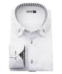 FLiC/ワイシャツ メンズ デザイン ボタンダウン 長袖 形態安定 シャツ ドレスシャツ ビジネス ノーマル スリム yシャツ カッターシャツ 定番 ドビー 織柄 おし/503079229