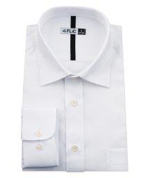 FLiC/ワイシャツ メンズ ショートワイド ワイド 長袖 形態安定 シャツ ドレスシャツ ビジネス ノーマル スリム yシャツ カッターシャツ 定番 ドビー 織柄 おし/503079231