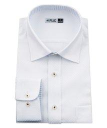 FLiC/ワイシャツ メンズ ショートワイド ワイド 長袖 形態安定 シャツ ドレスシャツ ビジネス ノーマル スリム yシャツ カッターシャツ 定番 ドビー 織柄 おし/503079232