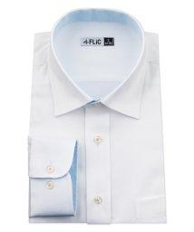 FLiC/ワイシャツ メンズ ショートワイド ワイド 長袖 形態安定 シャツ ドレスシャツ ビジネス ノーマル スリム yシャツ カッターシャツ 定番 ドビー 織柄 おし/503079233