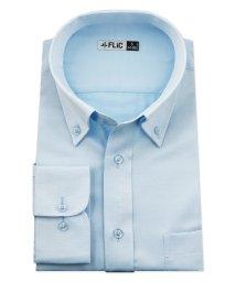 FLiC/ワイシャツ メンズ ボタンダウン 長袖 形態安定 シャツ ドレスシャツ ビジネス ノーマル スリム yシャツ カッターシャツ 定番 ストライプ ドビー 織柄 お/503079234