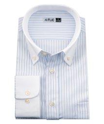 FLiC/ワイシャツ メンズ ボタンダウン 長袖 形態安定 シャツ ドレスシャツ ビジネス ノーマル スリム yシャツ カッターシャツ 定番 ストライプ ドビー 織柄 お/503079236