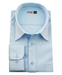 FLiC/ワイシャツ メンズ レギュラーカラー 長袖 形態安定 シャツ ドレスシャツ ビジネス ノーマル スリム yシャツ カッターシャツ 定番 ストライプ ドビー 織柄/503079242