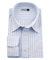 FLiC/ワイシャツ メンズ レギュラーカラー 長袖 形態安定 シャツ ドレスシャツ ビジネス ノーマル スリム yシャツ カッターシャツ 定番 ストライプ ドビー 織柄/503079244