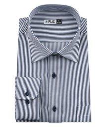 FLiC/ワイシャツ メンズ ショートワイド ワイド 長袖 形態安定 シャツ ドレスシャツ ビジネス ノーマル スリム yシャツ カッターシャツ 定番 ストライプ ドビー/503079246