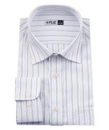 FLiC/ワイシャツ メンズ ショートワイド ワイド 長袖 形態安定 シャツ ドレスシャツ ビジネス ノーマル スリム yシャツ カッターシャツ 定番 ストライプ ドビー/503079247