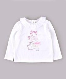 BeBe/スムースフリル襟Tシャツ/502865331
