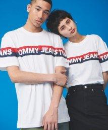 TOMMY JEANS/【オンライン限定】ストライプロゴTシャツ/503050532
