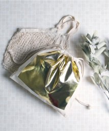 MAISON mou/【Parfum de Charmant Fleur/パルファム ドゥ シャルマンフルール】haku print 2way bag/箔プリント2wayショルダーバ/503050756