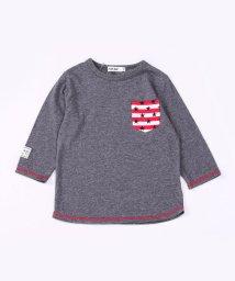 SLAP SLIP/天竺ボーダーポケット7分袖Tシャツ/503058122