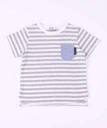 SLAP SLIP/天竺ダンガリーポケットボーダーTシャツ/503058124