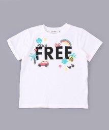 SLAP SLIP/シャドーボーダー刺繍風プリントTシャツ/503058125