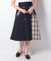 axes femme/パッチワークトレンチスカート/503065396