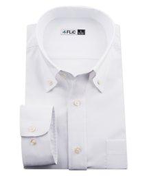 FLiC/ワイシャツ ノーアイロン ドライ ストレッチワイシャツ メンズ 長袖 形態安定 吸水速乾 織柄 ボタンダウン/503079700