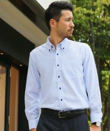 FLiC/ワイシャツ ノーアイロン ドライ ストレッチワイシャツ メンズ 長袖 形態安定 吸水速乾 織柄 ボタンダウン/503079701