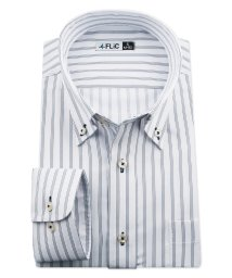 FLiC/ワイシャツ ノーアイロン ドライ ストレッチワイシャツ メンズ 長袖 形態安定 吸水速乾 織柄 ボタンダウン/503079702